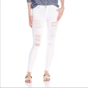 Joe's White Distressed Play Dirty Jeans
